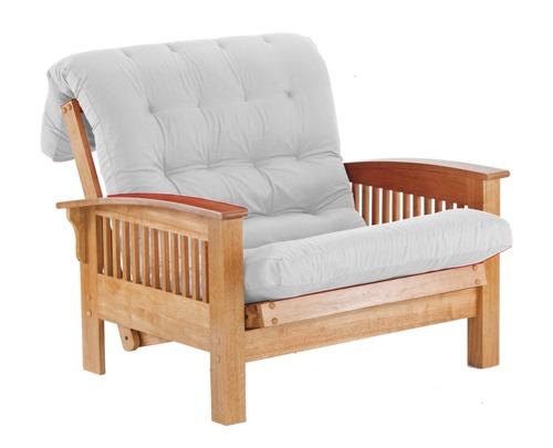 Metac sill n cama valencia 1 plaza crudo fmad0013 for Sillon cama de 1 plaza nuevo