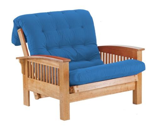 Metac sill n cama valencia 1 plaza azul fmad0013 for Sillon cama chile