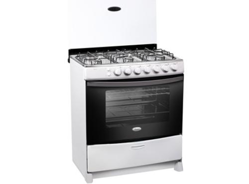 whirlpool cocina a gas 6 platos color blanca wst803ab