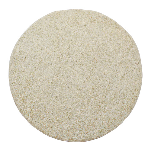 Cannon alfombra shaggy esfinge redonda crudo 133 cm for Alfombras redondas chile