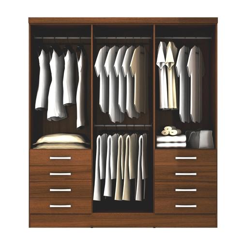 Yardas closet 6 puertas modelo s338 teca for Modelos de closets para dormitorios